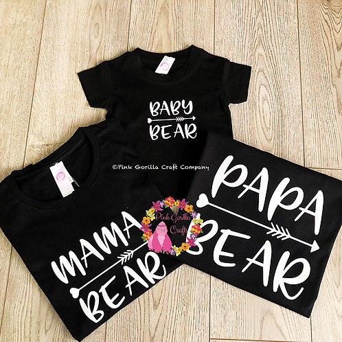 Family Matching Bear Tshirt Set