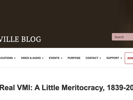 The Real VMI: A Little Meritocracy