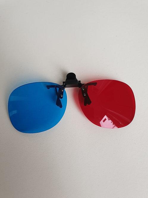 Lunettes rouge/bleu clip