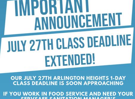 Arlington Heights, Il ServSafe Sanitation Manager's Class