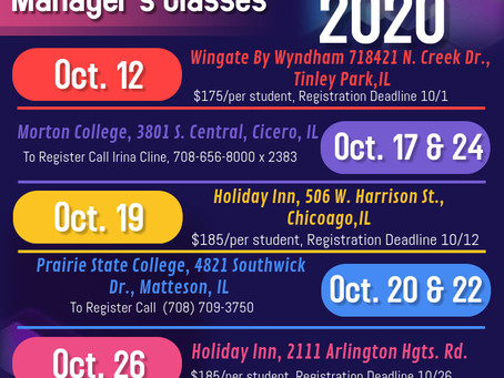 October 2020 Sanitation Manager's Classes Are Here!