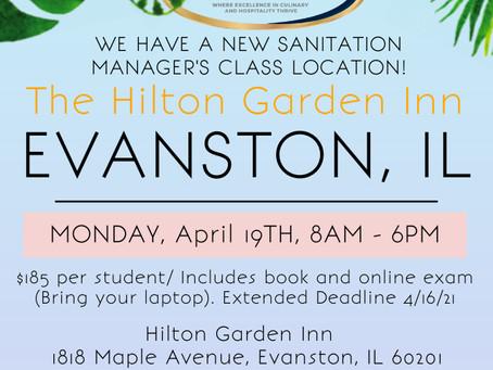 We Extended Our Registration Deadline! Join Our Evanston ServSafe Sanitation Manager's Class Today!