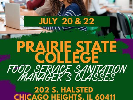 Chicago Heights ServSafe Sanitation Manager's Class