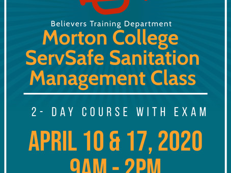 Join our Morton College Sanitation Manager's Class Today!