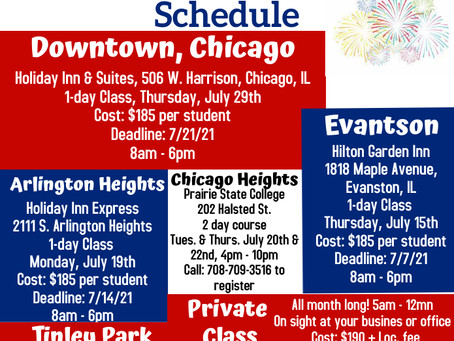We added another class date in Chicago!