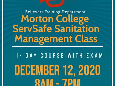 Morton College ServSafe Sanitation Manager's Class!