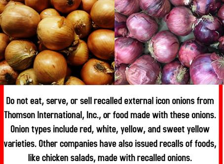 Salmonella Found In Onions