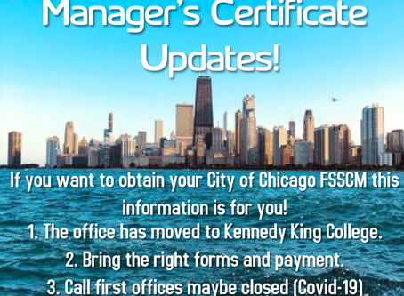 City Of Chicago Food Sanitation Program Office Has Moved!