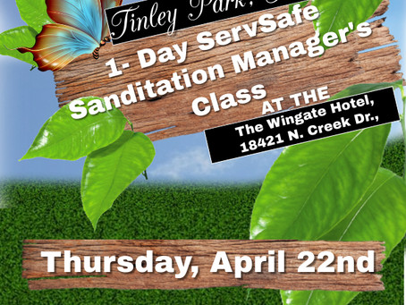 Our Tinley Park, Illinois Sanitation Manager's Class Is Coming Soon!