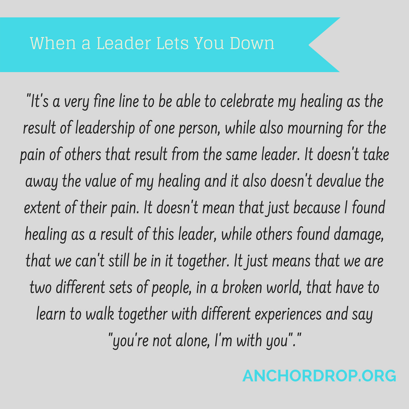 Quote: when a leader lets you down