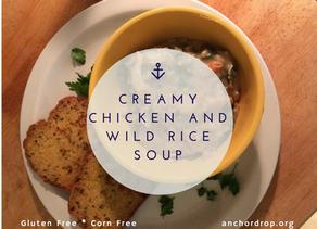 Creamy Gluten-Free Chicken and Wild Rice Soup