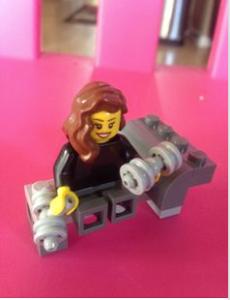 Lego woman exercising