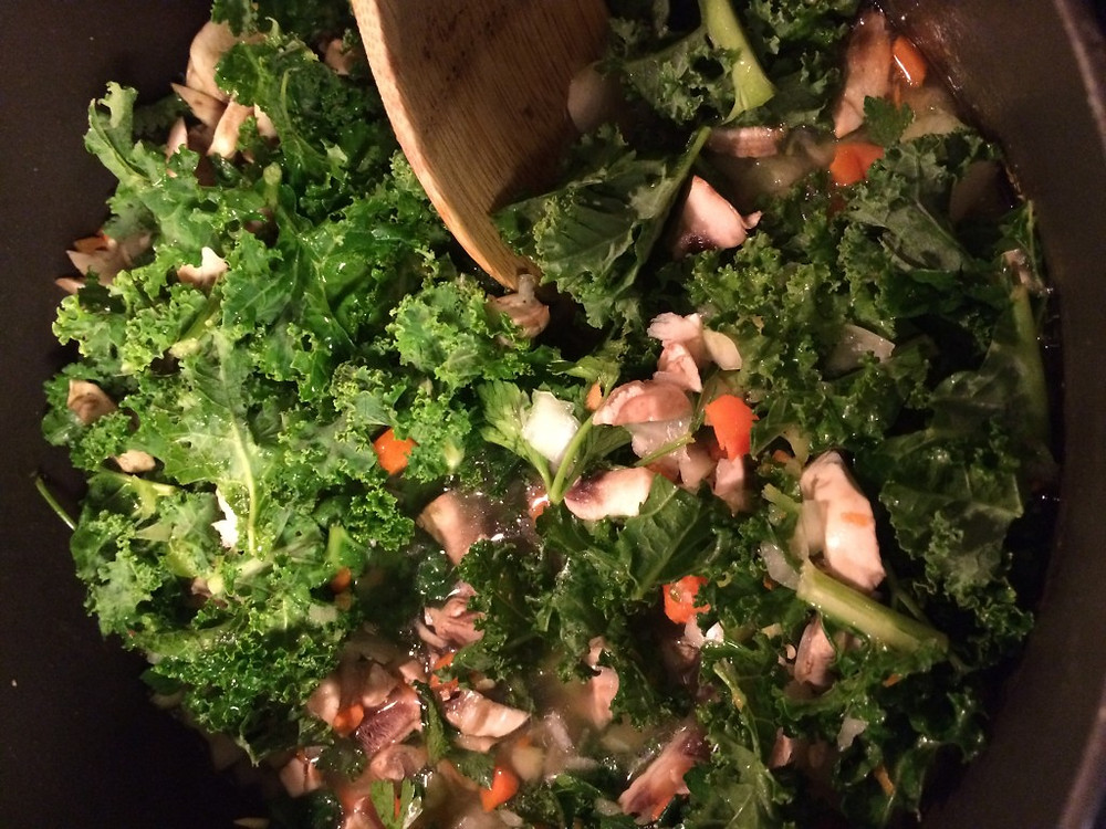 Kale and vegetables