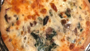 Gluten-Free Bacon, Mushroom, and Spinach Quiche