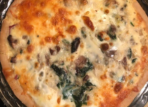 Gluten-Free Bacon, Mushroom, and Spinach Quiche