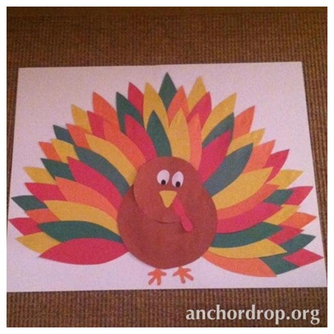 thanksgiving turkey children's craft