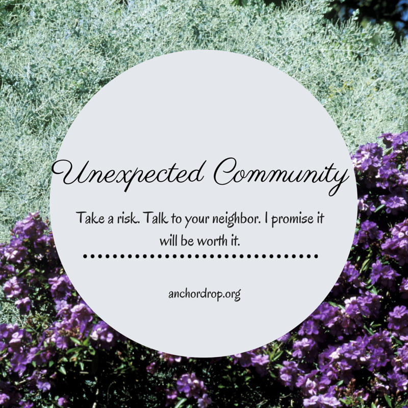 Flowers and the words Unexpected Community