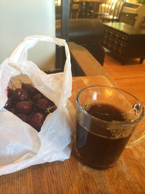 cherries and coffee