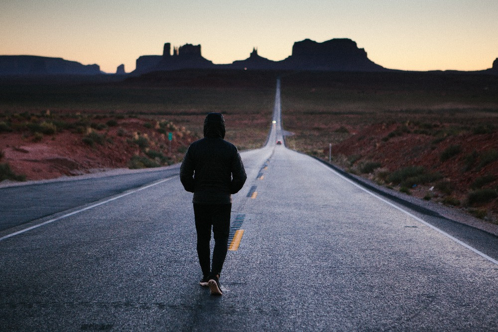 Journey, walk, traveling the long row