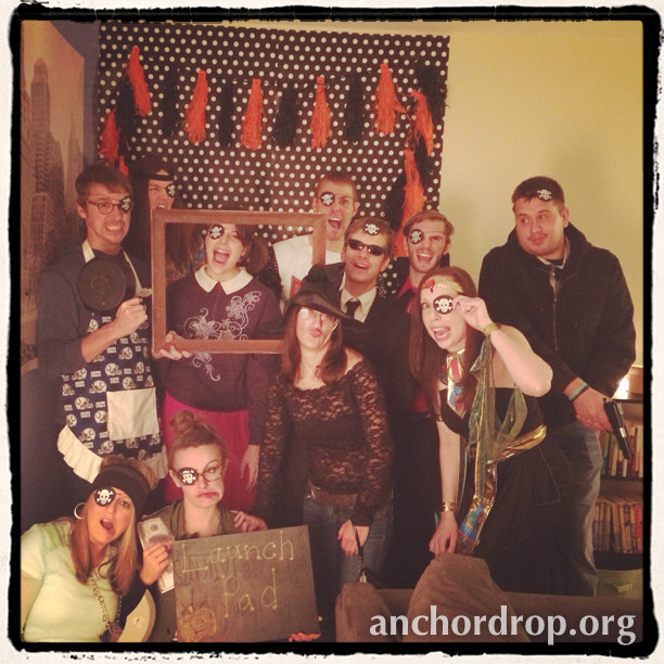 Small Group From Church dressed up for halloween