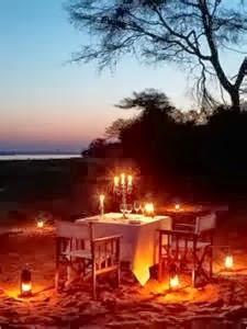 candlelit dinner outside