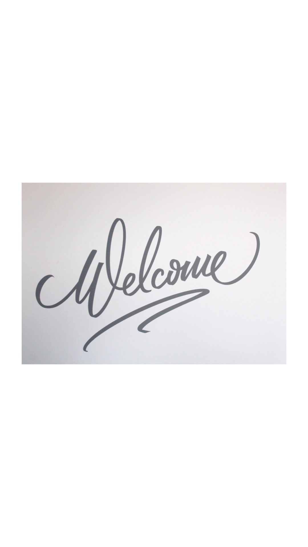 welcome sign edit
