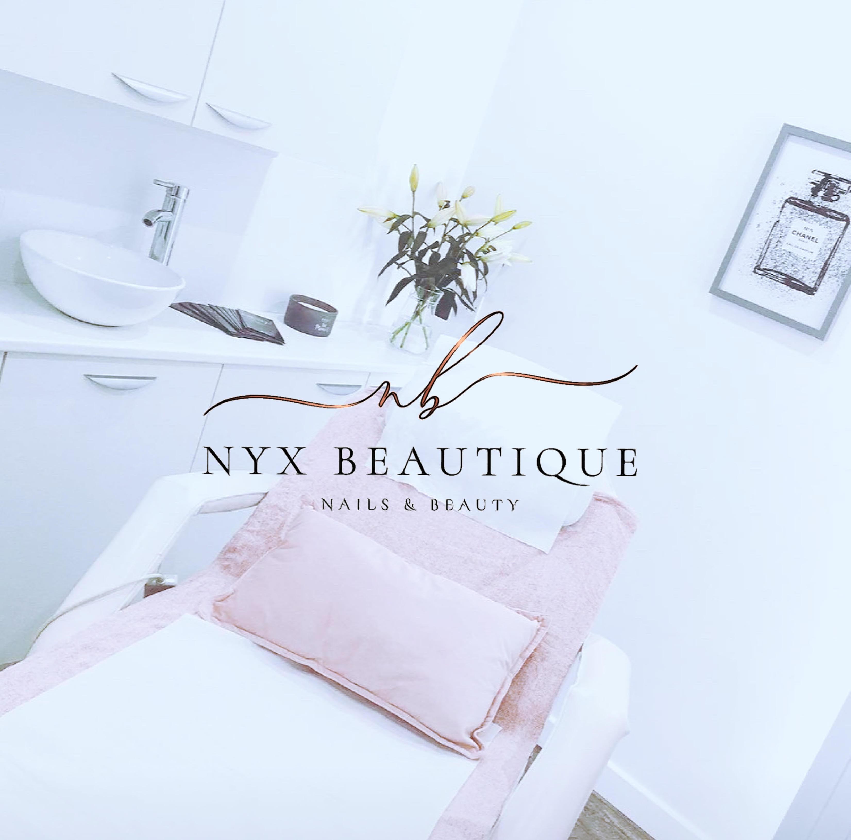 beauty room with logo