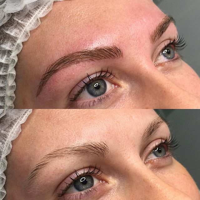 Microblading before & after for a very s