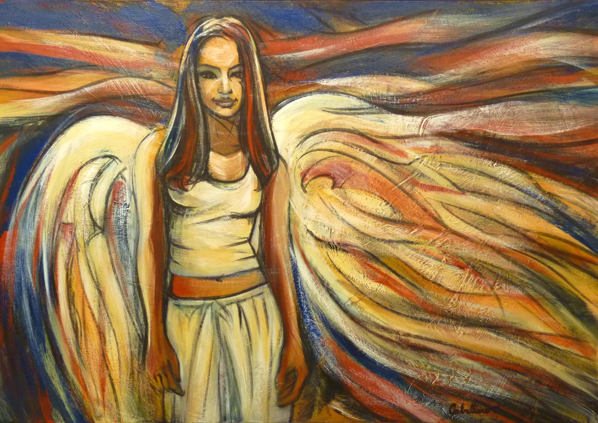 Un Ange sur Terre 130X100cm