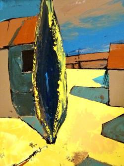 Soleil au village 50x60cm - Vendu