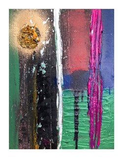 Silver Line - Mixed media on canvas