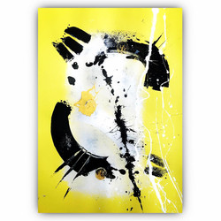Yellow 6 / Acrylic and Ink on card