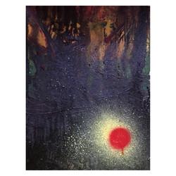 Sunspot - Mixed media on canvas