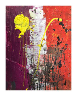 Yellow and Orange - Mixed media on canvas