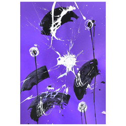 Purple 1 / Acrylic and Ink on card