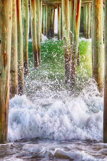 Wild Waves Under The Boardwalk