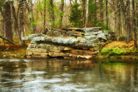 Walkers Falls Bridge Saco River