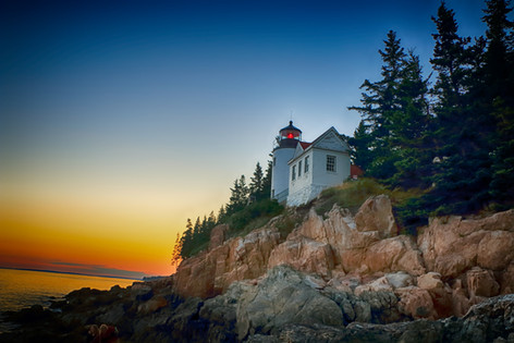 Splendid Sunset At Bass Harbor Lighthouse