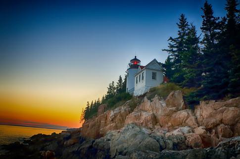 Splendid Sunset At Bass Harbor Lighthouse