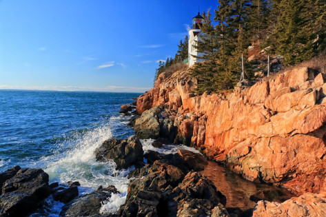Frigid Bass Harbor Lighthouse