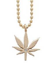 mini cannabis flower pendant with burnis