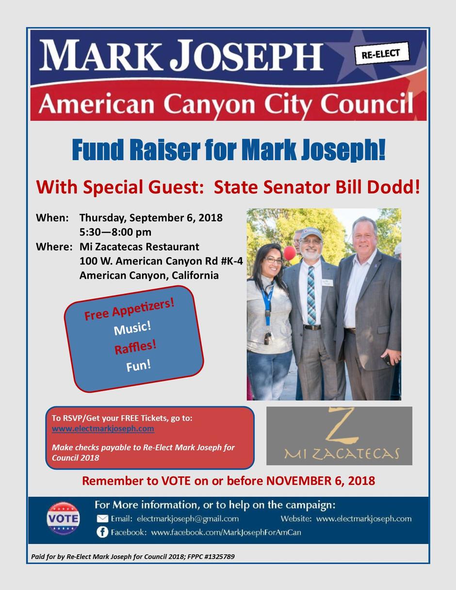 Mark's Fund Raising Event:  September 6