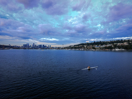 Clouds over Lake Union.