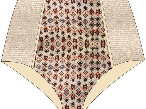 Culotte haute imprimé ethnic