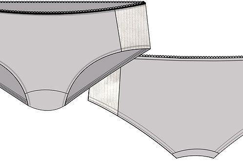 Copie de Culotte avec empiècement à rayures verticales
