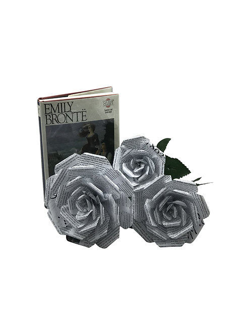 Wuthering Heights Book Paper Flowers in 3 Sizes