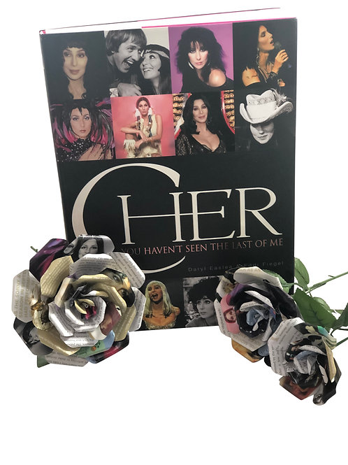 Cher Book Paper Flowers in 3 Sizes