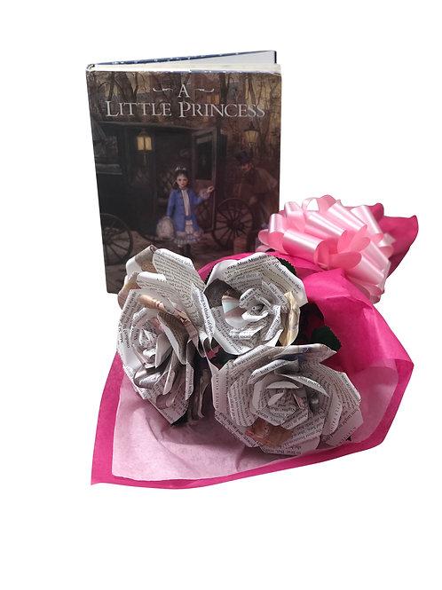 A Little Princess Book Page Flower Bouquet