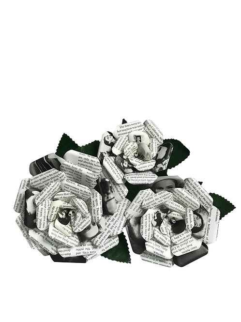 Judy Garland Book Paper Flowers in 3 Sizes