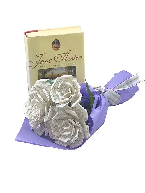 Pride and Prejudice Book Flower Bouquet